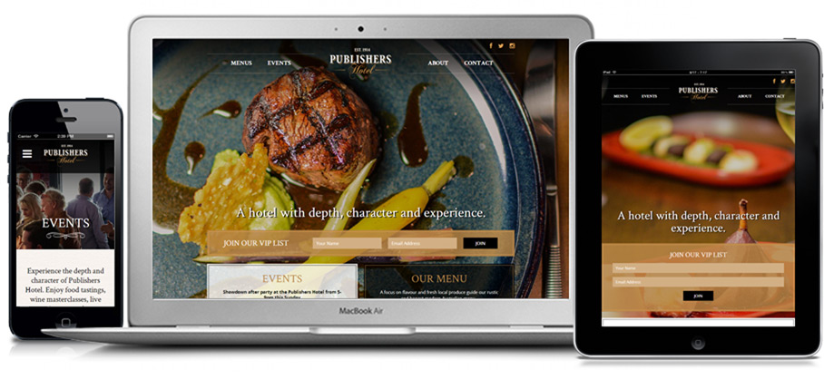Publishers Hotel website